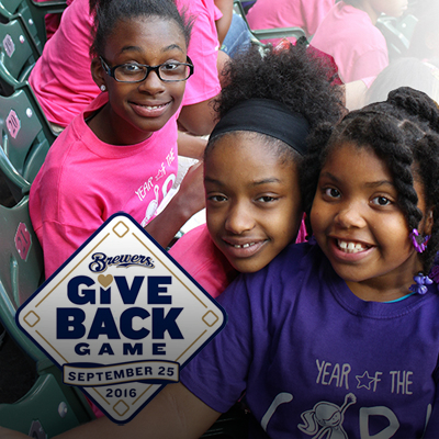 Milwaukee Brewers Give Back Game